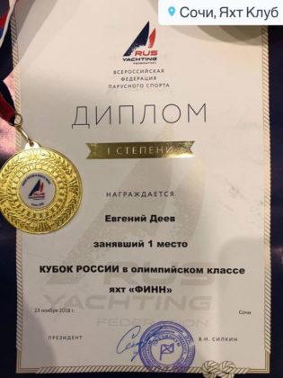 Севастопольский яхтсмен Евгений Деев - победитель Кубка России 2018!