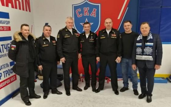 Командующий Черноморским флотом сыграл в заключительном матче первого этапа Хоккейной Лиги Военнослужащих