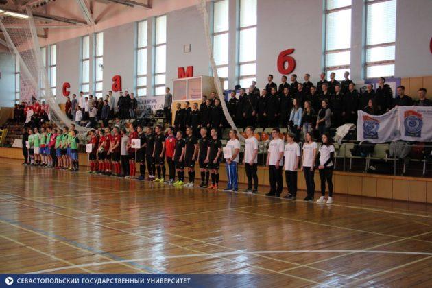 Сборная СевГУ заняла первое место в турнире по мини-футболу Спартакиады студентов Севастополя