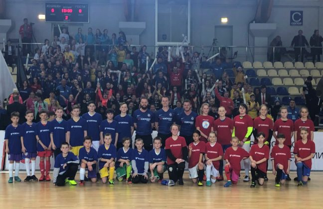 Севастопольские школьники приняли участие в тренировке под руководством тренеров Академии ФК «Челси»