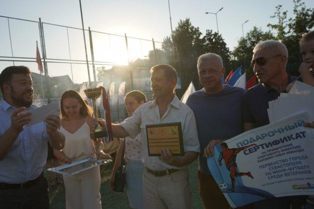 В Севастополе наградили победителей и призеров мини-футбольных турниров на призы губернатора