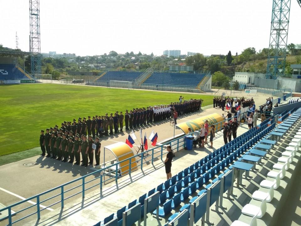 На СОК «Севастополь» прошла церемония открытия чемпионата ВС РФ по футболу 2019